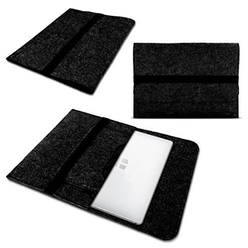UC-Express Laptop Tasche Sleeve Hülle für Odys Fusion Win 12 - Prime Win 12 - Unity Win 12 Pro - Winpad 12 Notebook Netbook Hülle aus Filz in dunkelgrau von NAUCI