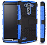 Cable And Case LG G4 Case, LG G4 Armor Cases- Tough Armorbox Dual Layer Hybrid Hard/Soft Protective Case, ArmorBox Blue- ArmorBox Blue