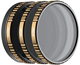 PolarPro Shutter Filter 3-Pack for DJI Osmo Action (Magnetic HotSwap Filter System)