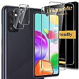 [2+2 Pack]UniqueMe Protector de Pantalla y Protector de lente de cámara para Samsung Galaxy A41, Cristal Templado [Cobertura máxima][Sin Burbujas] HD Vidrio Templado