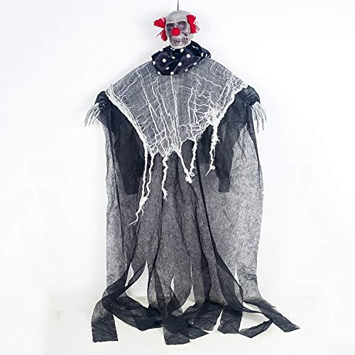60cm Halloween Decoration Home Door Haunted House Bar Hanging Ghost Skull Pendants Horror Props Creepy Skeleton Grim Reaper Decoration