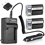 Kastar 2 Pack Battery and Charger with Car Adapter for Nikon ENEL-1 EN-EL1 and Nikon Coolpix 775 880 885 995 Coolpix E880 Cooipix 4300 4500 4800 Coolpix 5000 5400 5700 8700, Konica Minolta NP-800
