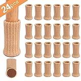 Ezprotekt 24 Pack Chair Socks High Elastic Furniture Socks Pads...