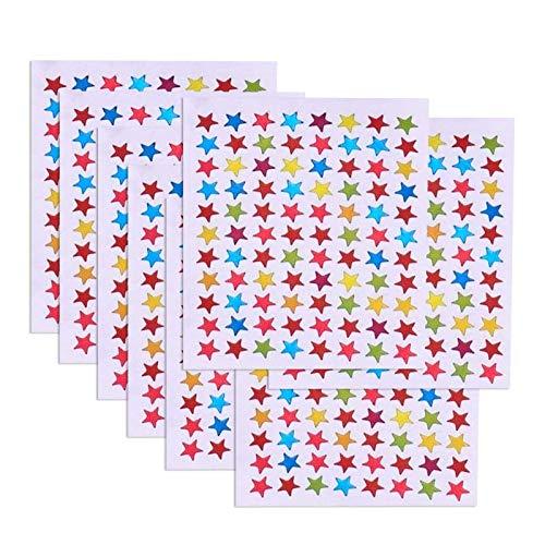 JZZJ Stern Aufkleber Farben Aufkleber Sterne Farbe Stern Aufkleber, 10 Blatt