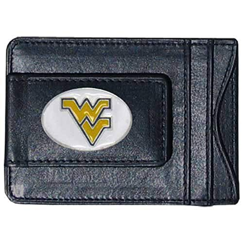 NCAA Cuir Cash et Cartes de visites, Homme, B0010XKKFQ-PARENT, West Virginia Mountaineers, Normal