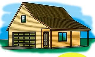 Cad Northwest Residential Garage Blueprint - Style J - 24' x 30' Garage Plan