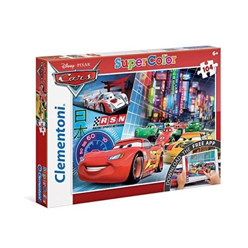 Clementoni 20706 - Cars Puzzle, con App, 104 Pezzi