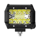 4 Pulgadas 60W 2400lm Tri-Row LED Trabajo Barra ANULADA Combo Combo Fog Drive Blanco for EL CAMIÓN DE OFFROARIO ATV Bricolaje