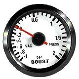 E Support trade; 12V Auto Motore 2' 52mm Universale pointer Led blu Manometro Pressione Turbo Bar Indicatore