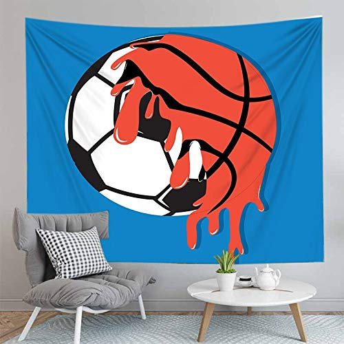 PPOU Impresión 3D niño Baloncesto Tapiz Colgante de Pared Arte de la Pared decoración del hogar Tapiz de Tela de Fondo Manta de Playa A1 73x95cm