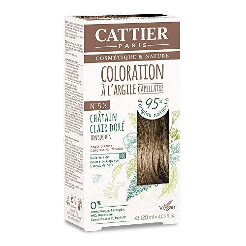 Cattier Kit Coloration Capillaire à l'Argile - N°5.3 Châtain Clair Doré