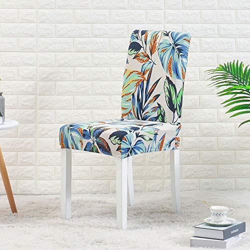 LZHLMCL Schutzhülle Stuhlbezüge Stuhlbezug Drucken Stuhlbezug Stretch Elastic Spandex Stuhl Schonbezug Für Esszimmer Büro Hochzeit Bankett Party 1St