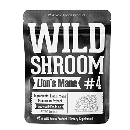 Price comparison product image Lion's Mane Mushroom Extract 10:1 Superfood Powder by Wild Foods / Fruiting Bodies Only / Adaptogenic Nootropic Herb for Focus,  Memory and Health (2 Ounce)