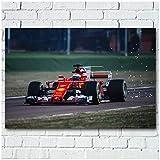 LIUXR Racing Formula One Sport Car Poster e Impresiones Arte de la Pared Pintura en Lienzo Impresiones en la Pared para Regalo de decoración del hogar -20x30 Pulgadas Sin Marco 1 PCS