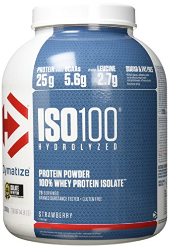 Dymatize ISO 100 Strawberry 2,2kg - Whey Protein Hydrolysat + Isolat Pulver