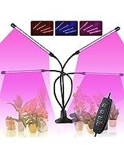 Roleadro 80 W LED lampa do uprawy roślin z cyklem 3/6/12 h, 3 tryby świecenia 360°, regulowana łabędzia szyja i klips na biurko, 10 stopni jasności, do wzrostu roślin w szklarni