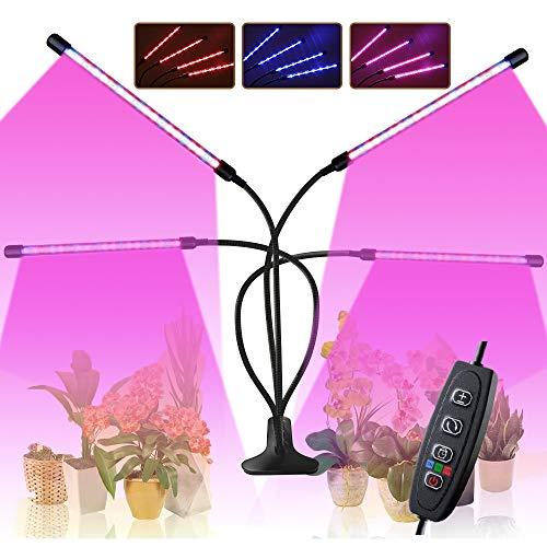 CXhome 80W LED Coltivazione Indoor Grow Light Strisce con 360° Regolabile Clip 3/6/12ORE Ciclo Timer 3 modalità Rosso Blu Spettro 10 Luminosità per Grow Box Interno Veg Fiore Crescita