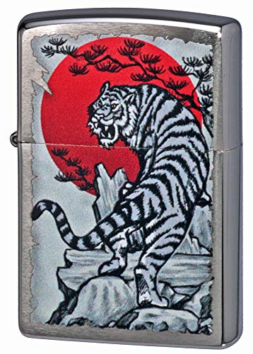 ZIPPO ジッポーライター オイル ライター Tiger & Rising Sun Design #29889 タイガー 虎 朝日