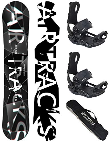 Airtracks Snowboard Set - Board REFRACTIONS Game Wide 171 - Softbindung Master L - SB Bag