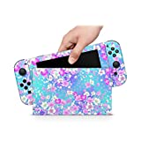 ZOOMHITSKINS Soft Flowers Rose Baby Blue Leave Pink Coral Pastel White High Quality 3M Vinyl Decal Sticker Wrap, Bubble-free Install, Goo-free Removal, Nintendo Switch Compatible, Made in the USA