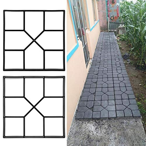 Demiawaking Stampo Per Marciapiede Stampi Per Pavimentazione Giardino Fai-Da-Te Manualmente Pavimentazione In Cemento Mattoni Pietra Strada Stampi Per Calcestruzzo (40X40X4Cm)