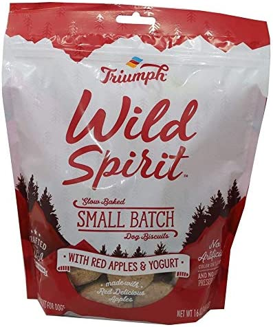 Triumph Wild Spirit Red Apples and Yogurt Biscuits 16 Ounces Small Batch Dog Treats product image