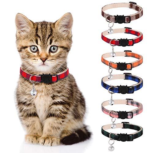 Veraing Katzenhalsband mit Glöckchen, Sicherheitsschnalle...