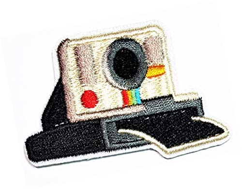 ONCEX Vintage Camera Polaroid Applique Patches Cartoon Camera Cute Emblem Uniform Costume Kids Embroidered Iron On Patch Embroidery Clothes Accessory Sewing