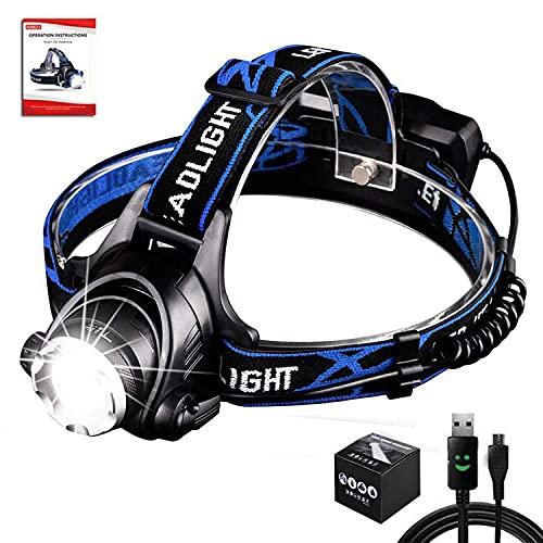 Aukelly LED Linternas Frontales Alta Potencia USB Recargable Linterna Frontal,LED Lámpara de...
