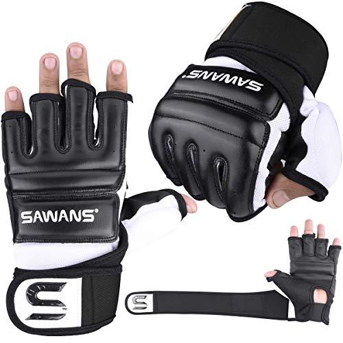 SAWANS Punch Bag Boxing Gloves Karate Mitts MMA Body Combat Taekwondo...