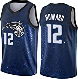 CXJ Camiseta De Baloncesto para Hombre - Camiseta De La NBA Orlando Magic # 12 Dwight Howard Camisetas Retro Tejido Transpirable Fresco Swingman Chaleco Sin Mangas Ropa Superior,S