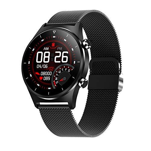 LDJ El Último Reloj Inteligente para iOS Android E13 Hombres Y Mujeres Deportes Impermeables Smartwatch SMARTWATCK Tasa De Corazón Monitoreo del Sueño GPS Soporte Pedómetro Reloj Bluetooth,A