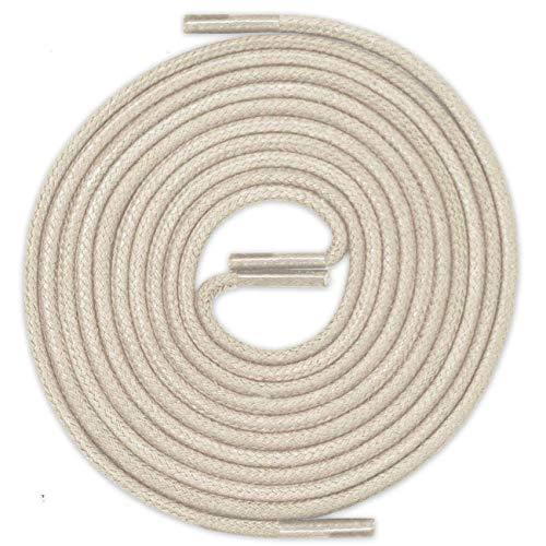 LACCICO Finest Waxed Laces® Durchmesser 2 mm Runde Dünne Elegante Gewachste Schnürsenkel Länge: 120 cm Farbe: Graubeige