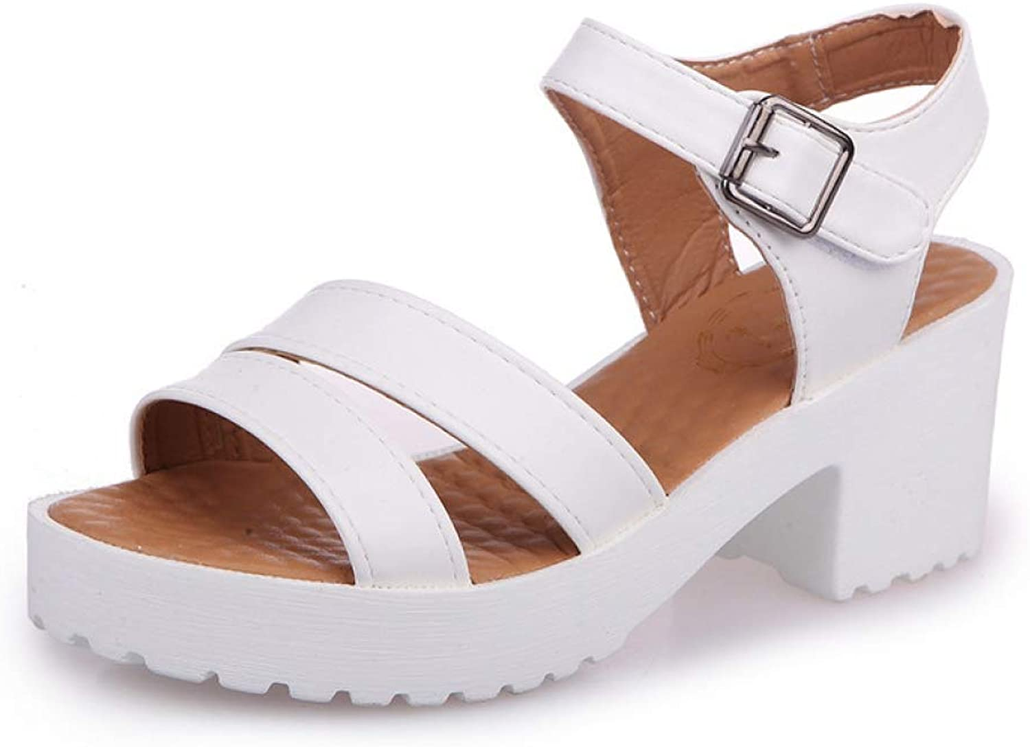 T-JULY Platform Sandal for Women Summer Open Toe Chunky Heel Wedges Fashion Comfortable Casual Ladies shoes