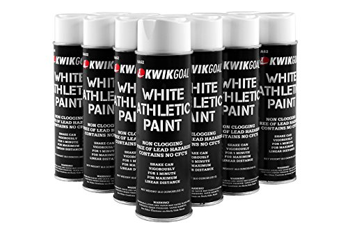 Kwik Goal Athletic Field Paint - Pack of 12 (White, 18-Ounce)