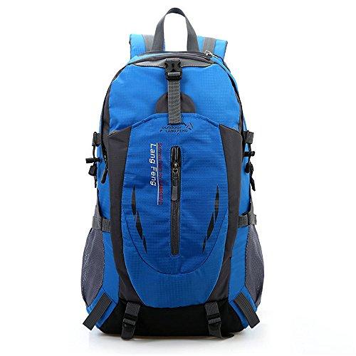 Minetom 55L Bag Impermeabilegrande Capacità Zaino Ciclismo Campeggio Viaggio Pack Trekking Escursionismo Montagna Alpinismo Blu One Size(32*25*50 Cm)