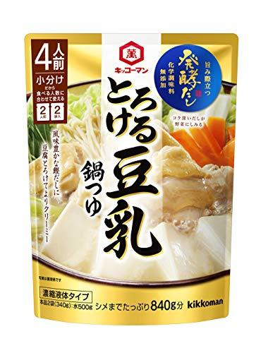 キッコーマン食品 (発酵だし) とろける豆乳鍋つゆ 340g ×4個