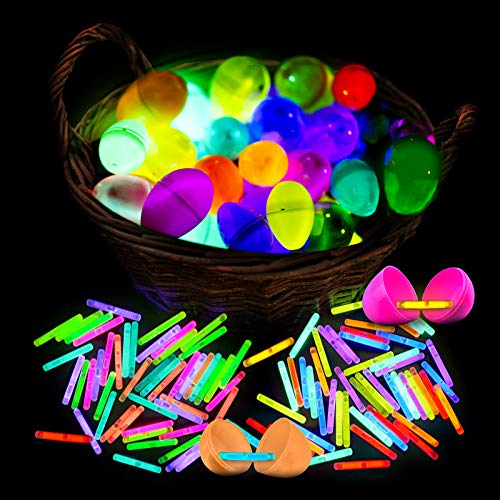 V-Opitos MiniGlow Stick, 240 PCS Bulk Mini Glow Sticks for Easter Eggs with 8 Colors, Glow in Dark Basket Stuffers for Easter/Halloween, Glow Decorations for Party, Kids Party Favor