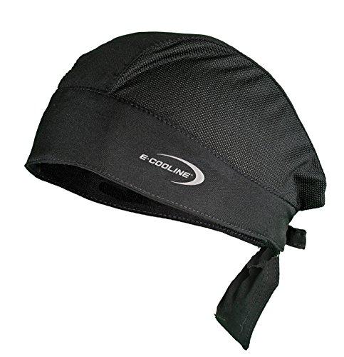 E.COOLINE Powercool SX3 Bandana Light - kühlende Kopfbedeckung mit Mesheinsatz (Schwarz, one Size) - Klimaanlage zum Anziehen