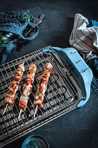 Jata BQ5101AM Barbecue électrique en acier inoxydable 2400 W Bleu