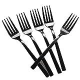 Tstorage Schwarz Kleine Gabeln Dessertgabel Vorspeisengabeln, Edelstahl, 12 Stück