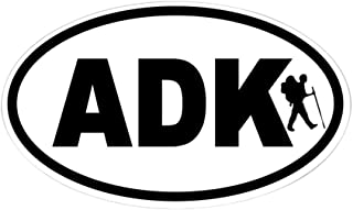 CafePress Adirondack ADK Hiker Oval Sticker Oval Bumper Sticker, Euro Oval Car Decal