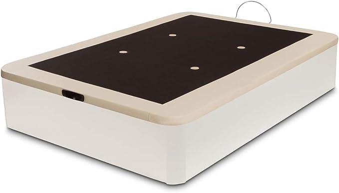 Dormidán - Canapé abatible Gran Capacidad Esquinas Redondeadas macizas, Base tapizada en 3D Transpirable/Polipiel, 4 válvulas de aireación, 105x190cm, ...