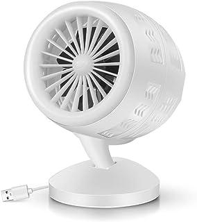 Dbtxwd Purificador de Aire Acondicionado Refrigerador de Aire portátil con USB Ventilador de circulación de Aire de turbina giratoria Ventilador de circulación,Blanco