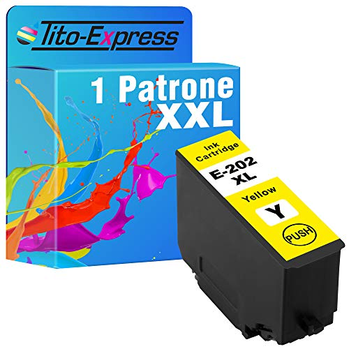Tito-Express Cartucho de tinta ProSerie 1 compatible con Epson 202XL 202 XL con 10 ml amarillo XXL Expression Premium XP-6000 XP-6005 XP-6100 XP-6105