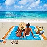 Beach Blanket Sandproof Waterproof Oversized 82' X 79' for 8+...