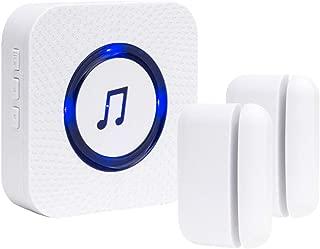 SanJie Wireless Door Open Chime Entry Alert Door Entry Alarm for Business Home Store 52 Ringtones 4 Volume Level 1 Receiver 2 Magnetic Window Sensor