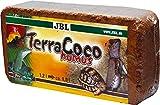 JBL TerraCoco Humus 71026 Bodengrund für alle Terrarientypen Kokoschips komprimiert Torfartig, 600 g, 9 l