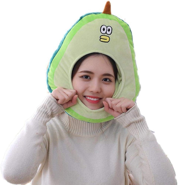 Nimhes Neue Cartoon Avocado Kopfbedeckung Cute Cap Plüschtier Puppen Strickmützen