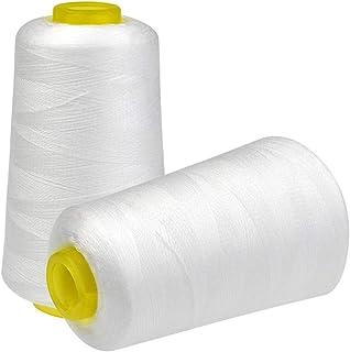 糸 ミシン系 2個セット cnomg 常備糸 3000ヤード 100%ポリエステル ホワイト 裁縫手芸